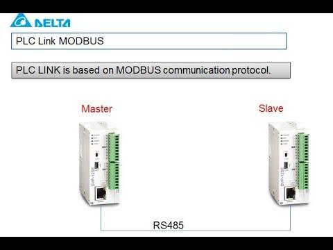 PLC LINK Two delta PLC (Master /slave)