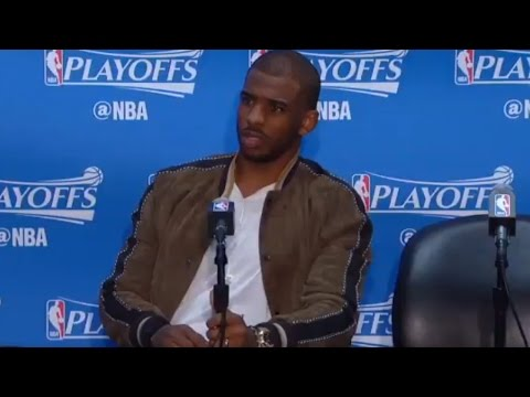 """""""WHAT?"""" Chris Paul Gives HILARIOUS Response to Stupid Question by Reporter After Game 5 Loss to Jazz"""