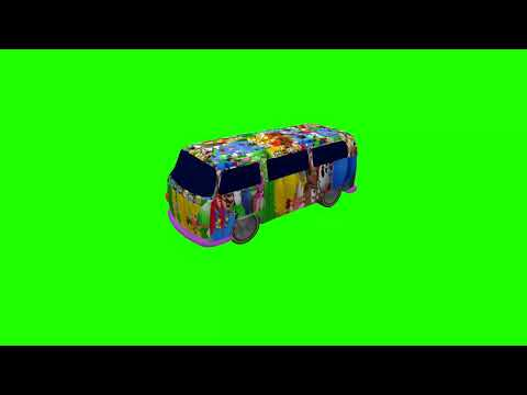 Green Screen Clips - Super Mario Quilt Pattern VW Kombi Van 1