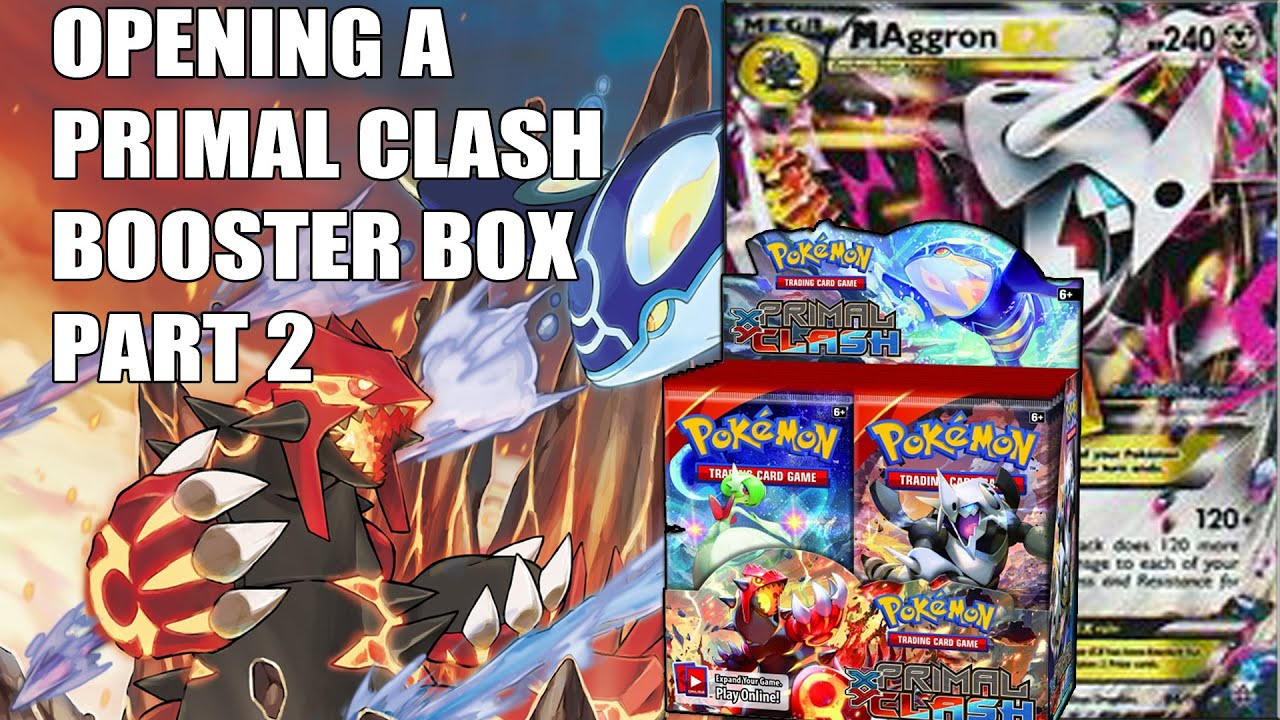 Opening A Pokemon Primal Clash Booster Box Part 2 Mega Aggron Ex Pull Youtube
