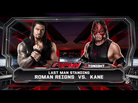 WWE 2K15- Roman Reigns vs Kane Last Man Standing Match 2015 (PS4)