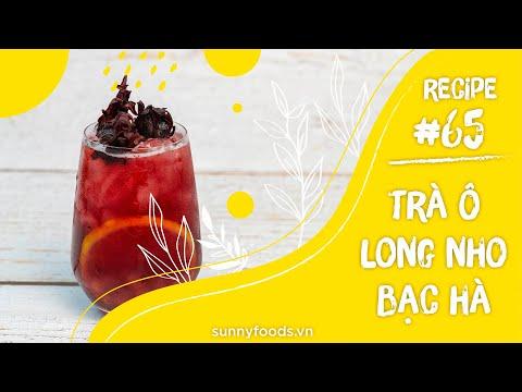 CÔNG THỨC SỐ 65: TRÀ Ô LONG NHO BẠC HÀ - Thức uống giải khát mát lạnh - sảng khoái - thơm ngon