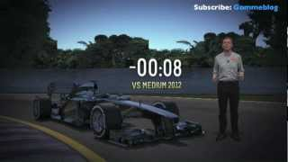 2013 Formula 1 Rolex Australian Grand Prix - Tyre Point of View - 3D LAP