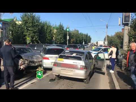 ДТП из пяти автомобилей на Пушкина в Томске