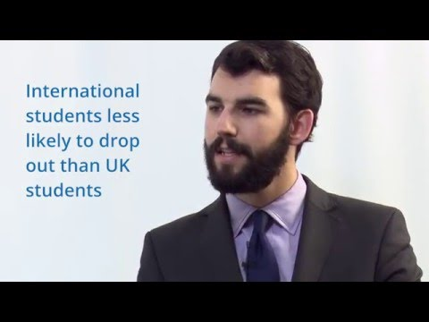 What's the story of dropout rates for international students?