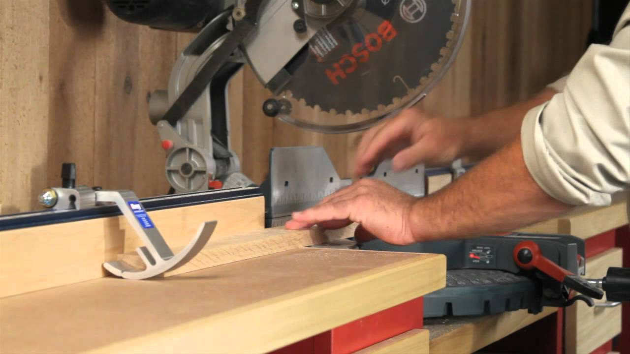 Give Your Miter Saw More Accuracy Kreg Precision Trak Stop