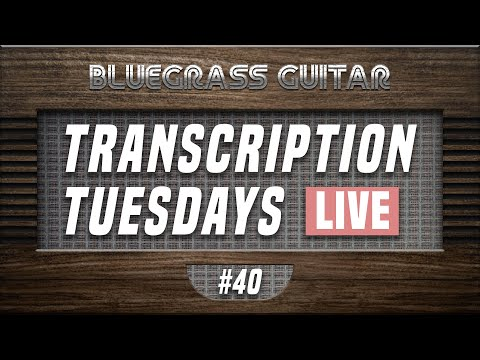 Live transcribing bluegrass guitar breaks from David Grier, Trey Hensley, and Tony Rice!