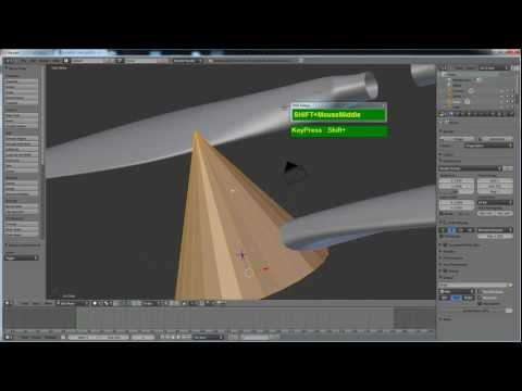 Blender 2.59 Modeling Tutorial - Airplane Propeller with Extrude and Loft/Bridge