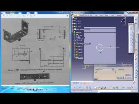 Catia V5 Tutorial|Practice1 for beginners P4|Sheetmetal Workbench