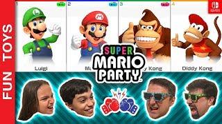 SUPER MARIO PARTY #2 🔴 Adultos VS. Crianças! Para Quem Você Vai Torcer? Batalha em Família Gameplay