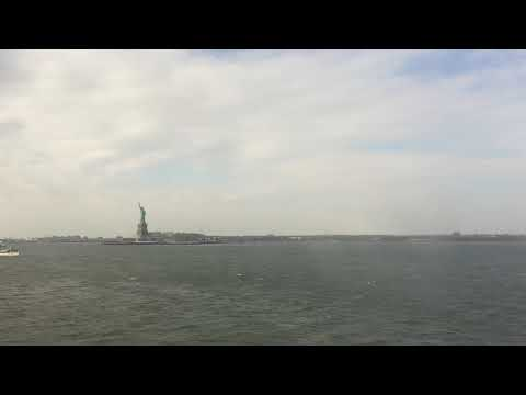 RIDING THE STATEN ISLAND FERRY (outward) VIEW OF STATUE OF LIBERTY