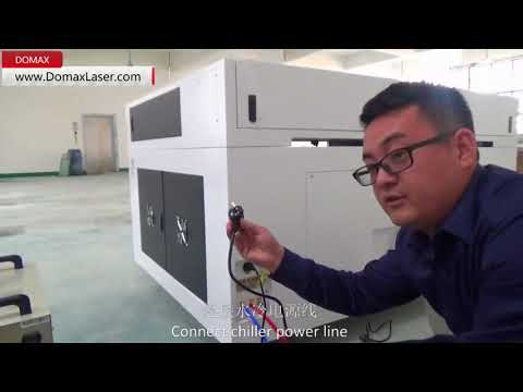 How to connect 1390 co2 laser machine