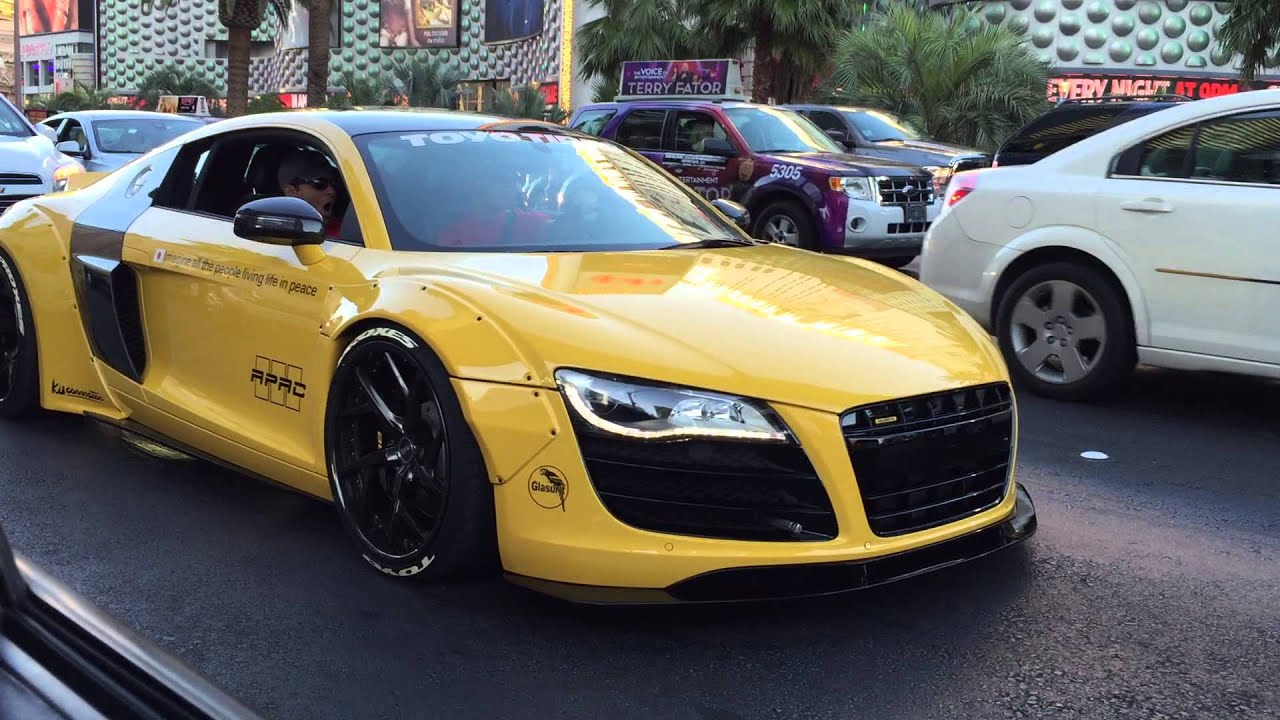 Liberty Walk Audi R8 V10 On The Las Vegas Strip Youtube