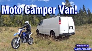 Bug Out Moto Van Tour | Camp in Van With Motorcycle