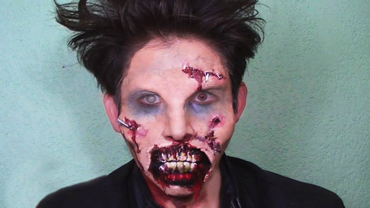zombie halloween maquillaje muerto viviente makeup tutorial youtube