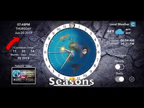 20181126   The Flat Earth Sun & Moon Clock iPhone App   Version 1 2 1 thumbnail