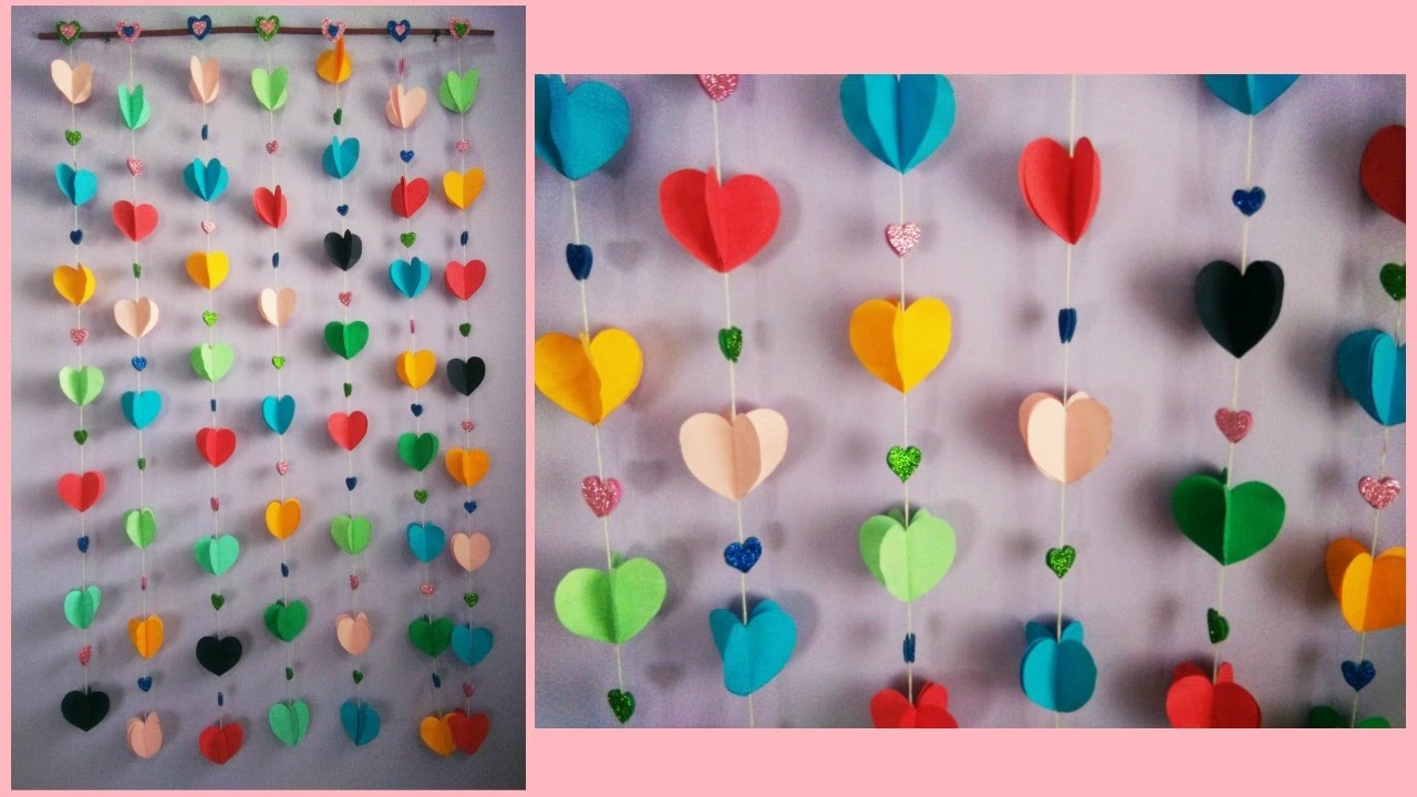 How to make easy paper wall hanging also youtube rh