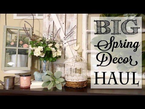 BIG Spring Decor Haul | Hobby Lobby | Michaels | Marshalls