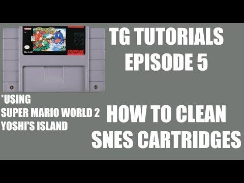 HOW TO CLEAN SNES CARTRIDGES - TG Tutorials Episode 5 USING SUPER MARIO WORLD 2 YOSHI'S ISLAND