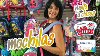 Solcito en Casa Goro: Tips sobre mochilas para la vuelta al cole