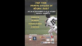 Final Primera división Béisbol Tiburones de Málaga vs CBS Barcino