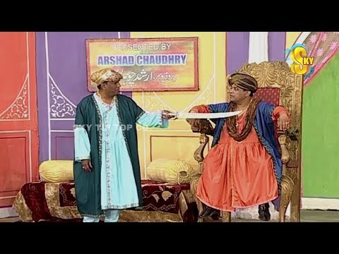 Agha Majid Amanat Chan and Nasir Chinyoti Stage Drama Chuski Clip