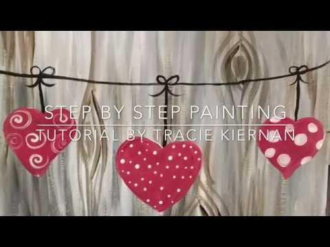 Easy Valentine's Day Acrylic Painting For Beginners - YouTube