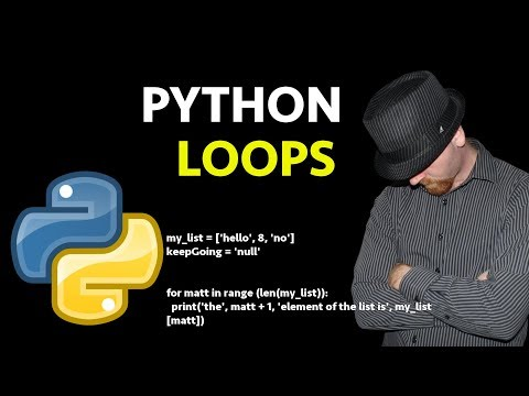 Python Loops: For Loops, While Loops, a Beginners Python Loop Tutorial thumbnail