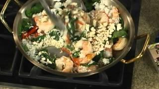 Shrimp And Creamy Spinach Feta Rice