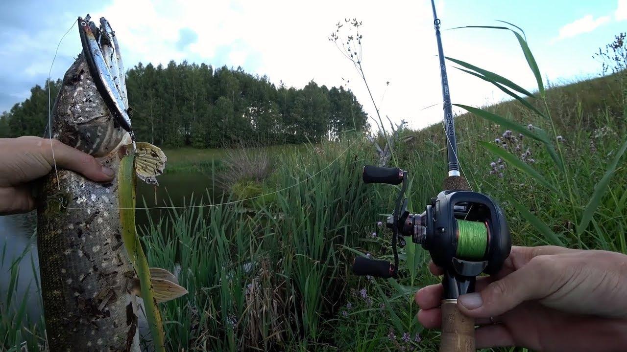 Ловля щуки воблерами с берега видео