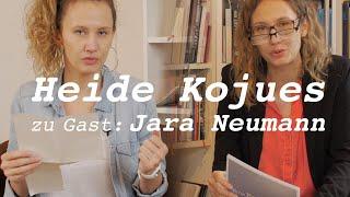 Eine Frau und ihre Gäste – Der Literaturtalk mit Heide Kojues. Zu Gast Jara Neumann
