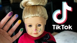 i recreated famous tiktoks using my dolls