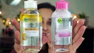 Garnier Micellar / Oil-Infused Cleansing Water |  Demo and Review