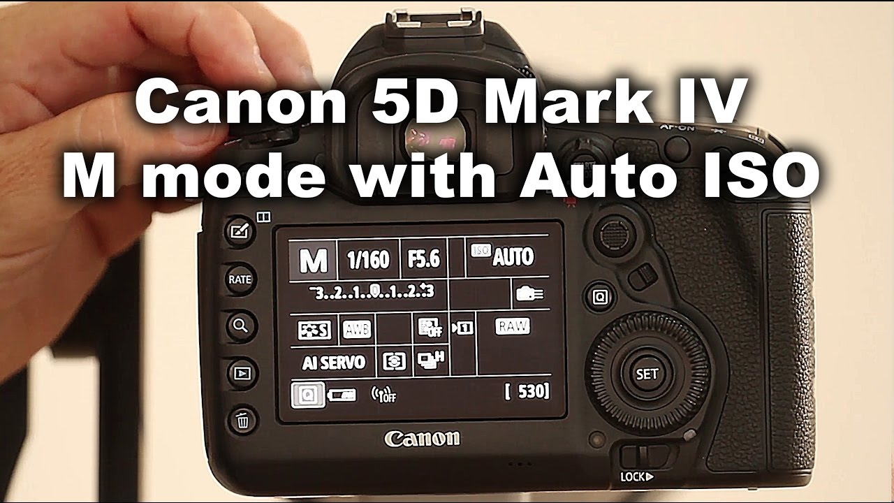 Shooting Canon 5D Mark IV in M mode with auto ISO
