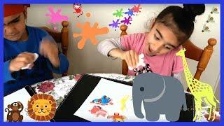 Learn Animals - Paint Wild Animals Set