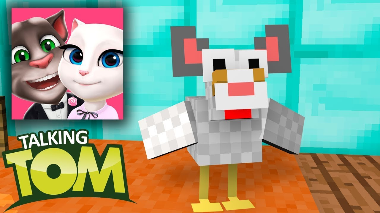Monster School : Talking Angela and Talking Tom Challenge in Minecraft Animation