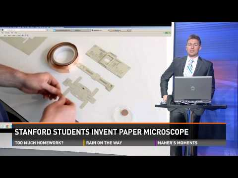 Stanford students invent paper microscope