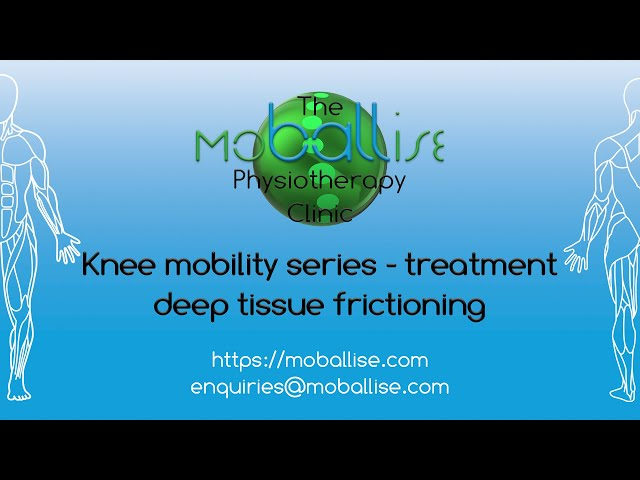 Tendon / ligament treatment - deep tissue frictioning