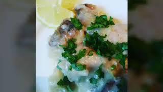 Рыба САЙДА в сметане на сковороде// Рецепт за 15 минут// БЛЮДО НА СКОРУЮ РУКУ// Рыба в белом соусе