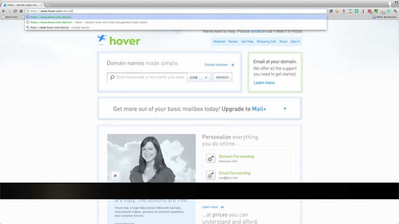 How to Register Domains with *Hover com*