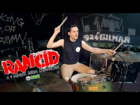 Rancid: A 5 Minute Drum Chronology - Kye Smith [4K]