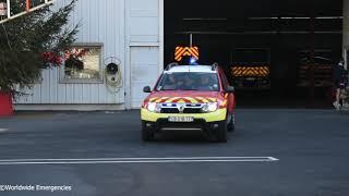 Départ FPTL + VLCDG des sapeurs pompiers du SDIS 06 pour une fuite de gaz.