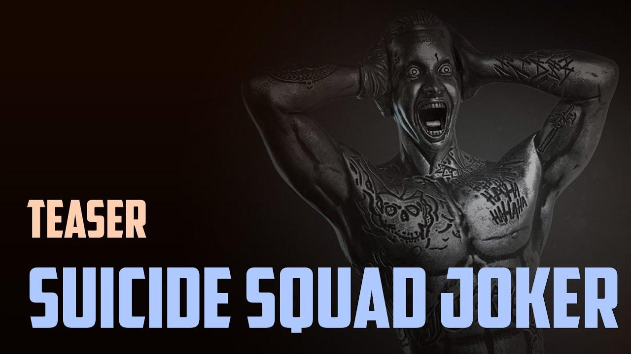 Suicide Squad. Joker for 3d print. Teaser.