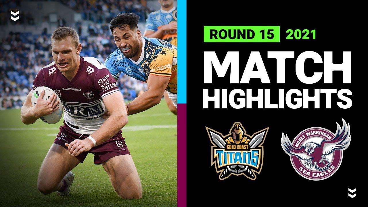 Download Titans v Sea Eagles Match Highlights | Round 15, 2021 | Telstra Premiership | NRL