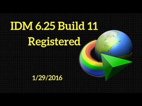 IDM 6.25 Build 11  Registered  32bit + 64bit Patch