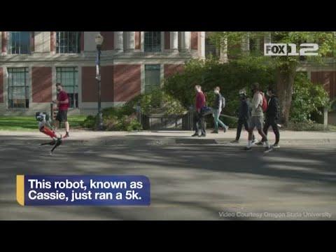 Oregon State University robot takes historic 5k jog