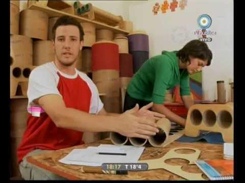 Caja rodante muebles reciclados de cart n youtube for Muebles reciclados