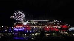 MSC Splendida spielt Seven Nation Army und We Will Rock You | 100. Jubiläum im Hafen Hamburg