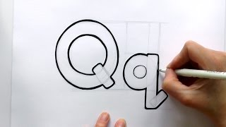 How to Draw a Cartoon Letter Q and q