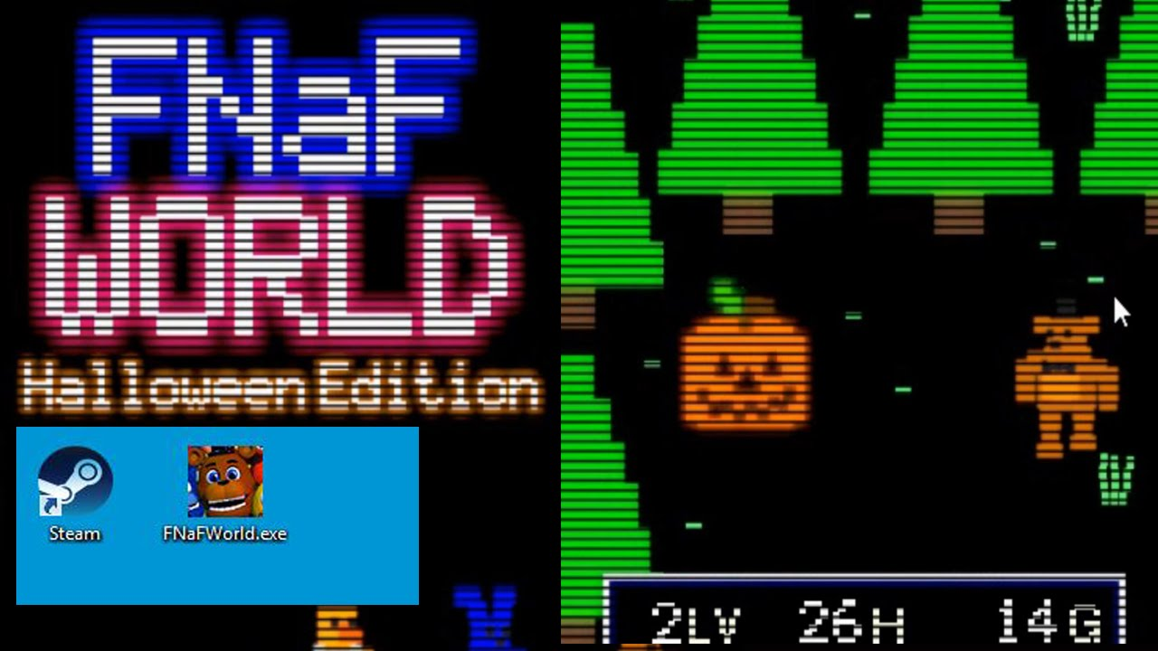 OFICIAL FNAF WORLD Halloween Edition - GAMEPLAY FNAF WORLD ...